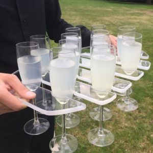 Champagne Serving Tray for 12 Glasses