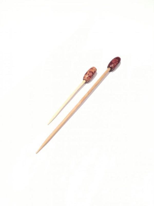 Decorative Wood Bead sparkle 6.5 or 10cm