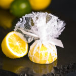 Lace Lemon Cover including ribbon ties