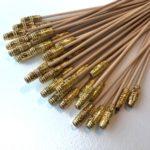 Long gold bead skewer 20cm