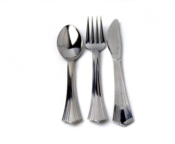 Metallic Silver Look Spoon 17.5cm