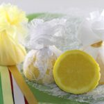 Muslin Lemon Wedge Bags Elasticated