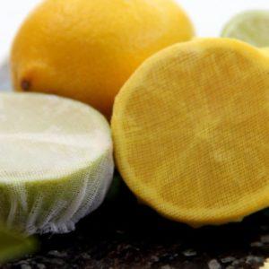 Muslin Lemon Wedge Bags Elasticated