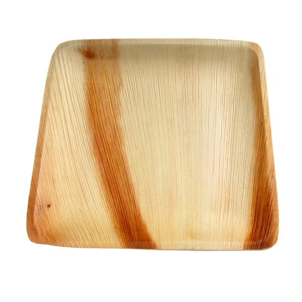 Palm Leaf Large Square Plate 20cm