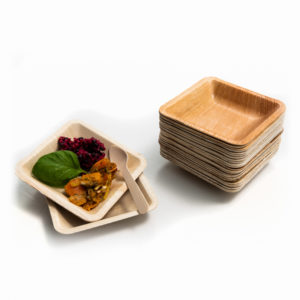 Palm Leaf Mini Square Plate 11cm