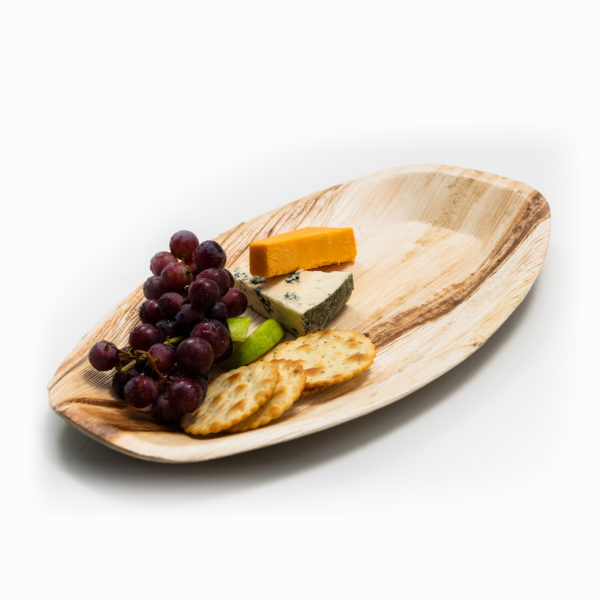 Palm Leaf Oval Platter 37x23cm