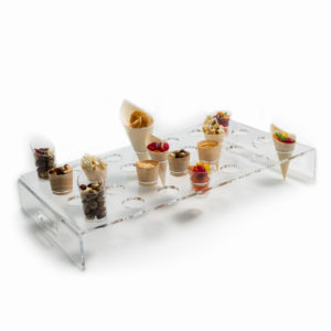 Perspex 28 Hole Clear Canape Stand