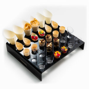 Perspex 30 Hole Black Canape Tray