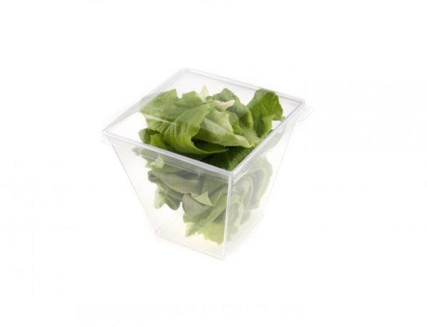 Plastic Cup Square transparent 180ml