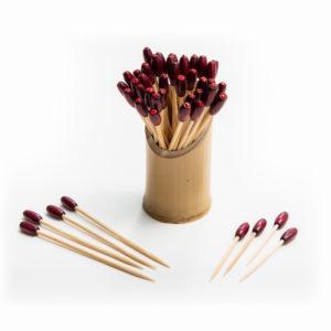 Ruby Wood Bead sparkle 6.5 or 10cm