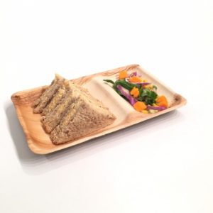 Two compartment plate 27 x 18cm