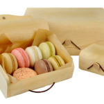 Wood Box wrap over lid & elastic button clasp