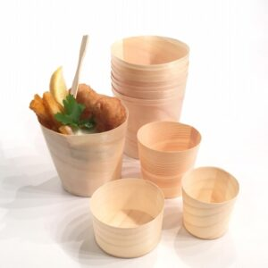 Wood Cups - 4 Sizes