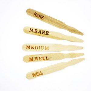 Wood Steak Markers