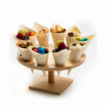 Wooden Round 10 Hole Stand