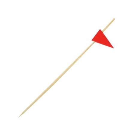 Red Wooden Flag Skewer 12cm