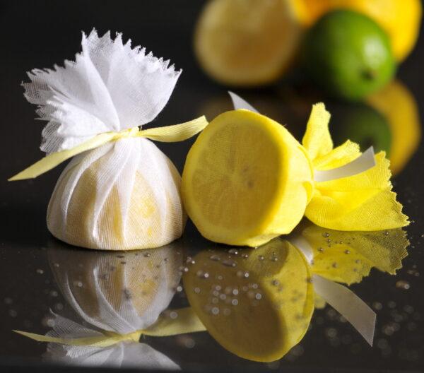 Muslin Lemon Cover with Ribbon Ties