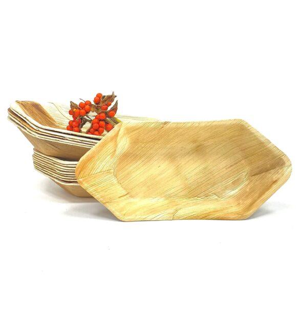 Palm Leaf Boat Bowl