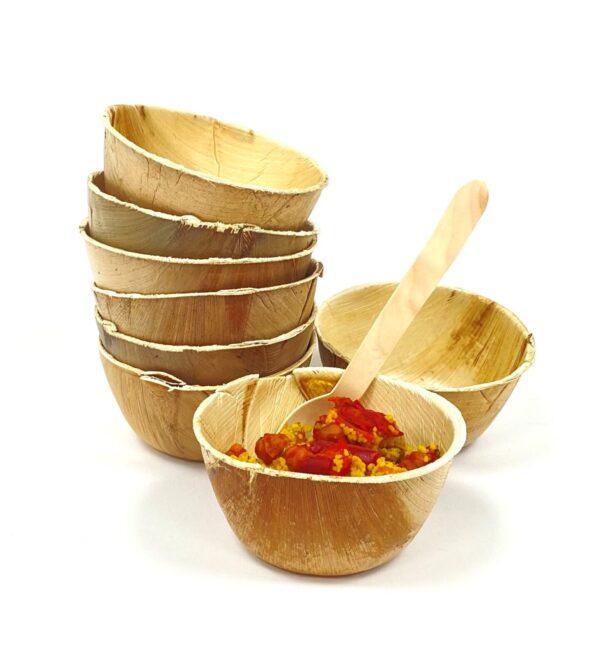 Palm Leaf Round Dish