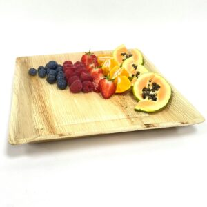 Palm Leaf Large Square Plate 25cm