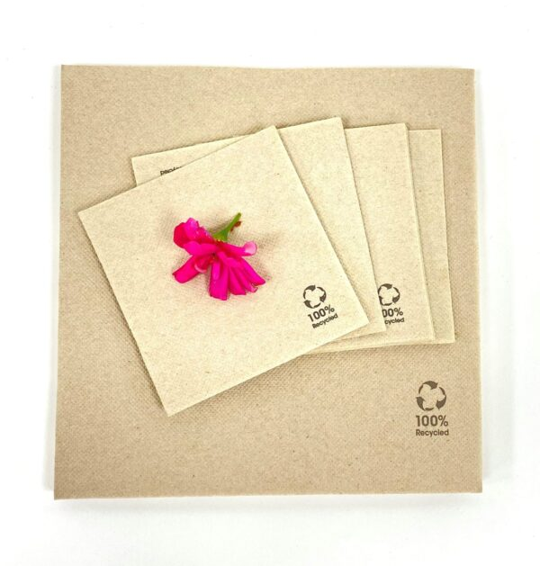 Natural Cocktail Napkin 100% recycled