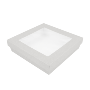 white card box for food and cake takeaway